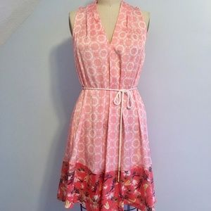 Peter Som Tropical Print Shift Sleeveless Dress